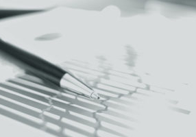 close up. blurred image pen and financial chart. business background